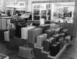 Luggage display in a department store