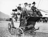 Women polo players on stagecoach
