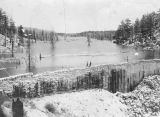 Bear Valley reservoir construction