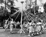 Dancing around the maypole on May Day