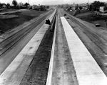 Hollywood Freeway under construction