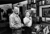 Ron and Nancy Reagan at ranch