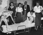 Barbara Graham put on stretcher