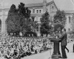 Martin Luther King, Jr. addresses students