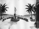 Winebrenner fountain sketch