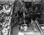 "Devon bull ""Deputy Paymaster"" loading on S.S. City of Panama"