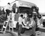 Decorating a Los Angeles Public Library Bookmobile