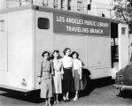 Staff of the Los Angeles Public Library Traveling Branch Bookmobile