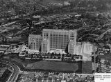 Aerial view of Los Angeles County Hospital