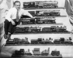 Model locomotives at Pacific Southwest Exposition