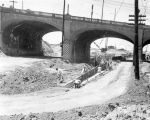 Ramona Freeway construction at Macy St. Bridge