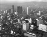 Aerial view of Central City, between 1950-1970