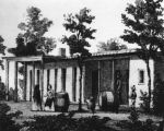 Artist's sketch of Juan Domingo adobe residence