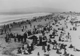 Crowded beach at Long Beach