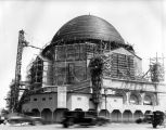 Construction of Wilshire Boulevard Temple, view 1
