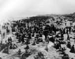 A crowded beach in Long Beach