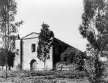 Early view of Mission San Gabriel Arcangel