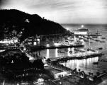 Night view of Avalon Bay  and The Catalina Casino, view 2