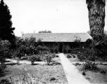 Earl B. Gilmore adobe, front yard, view 1