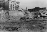 LAPL Central Library construction site, early view