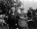 Thomas Edison with unidentified man