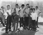 Boys with fish caught in Echo Park lake