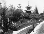 Pagoda at Japanese estate, Hollywood