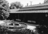 Patio of Harwood Court, Pomona College