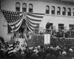 President Roosevelt speaks at Pomona College