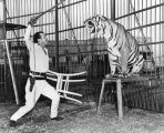 Clyde Beatty and tiger