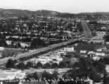 Panoramic view of Colorado Boulevard and Eagle Rock