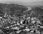Hollywood panorama toward Cahuenga Pass