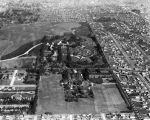 East Los Angeles cemeteries, aerial view