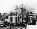 Los Angeles Times Building under construction