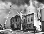 Building in fire during Watts Riots