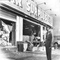 War Surplus store damaged, Watts Riots