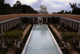 Reflecting pool, outer peristyle, J. Paul Getty Museum