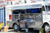 Skater kid at the food truck, Venice Beach