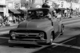 Old Ford truck with Santa Claus