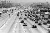 110 Freeway at evening rush hour
