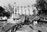 Moving statue to Echo Park, view 8
