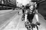Police bike patrol on Broadway, Los Angeles