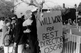 Streisand impersonator protests at Academy Awards