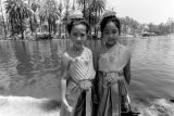 Two girls at Lotus Festival, Echo Park