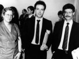 Jello Biafra with attorneys