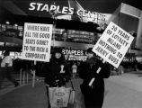 Protestors at the Staples Center