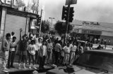 People on street during 1992 L.A. riots