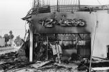 Building burned during 1992 L.A. riots