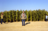 "Gary Leonard at ""Not a Cornfield"" corn field"
