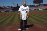 Johnny Podres at Dodger stadium